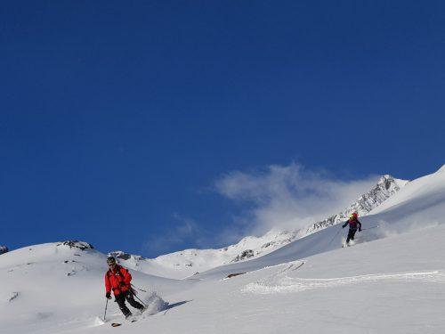 Novoroční skialp Alpy Davos Švýcarsko