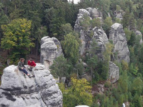 Pískovcový lezecký kemp s Pepou Šimůnkem a dalšími kolegy